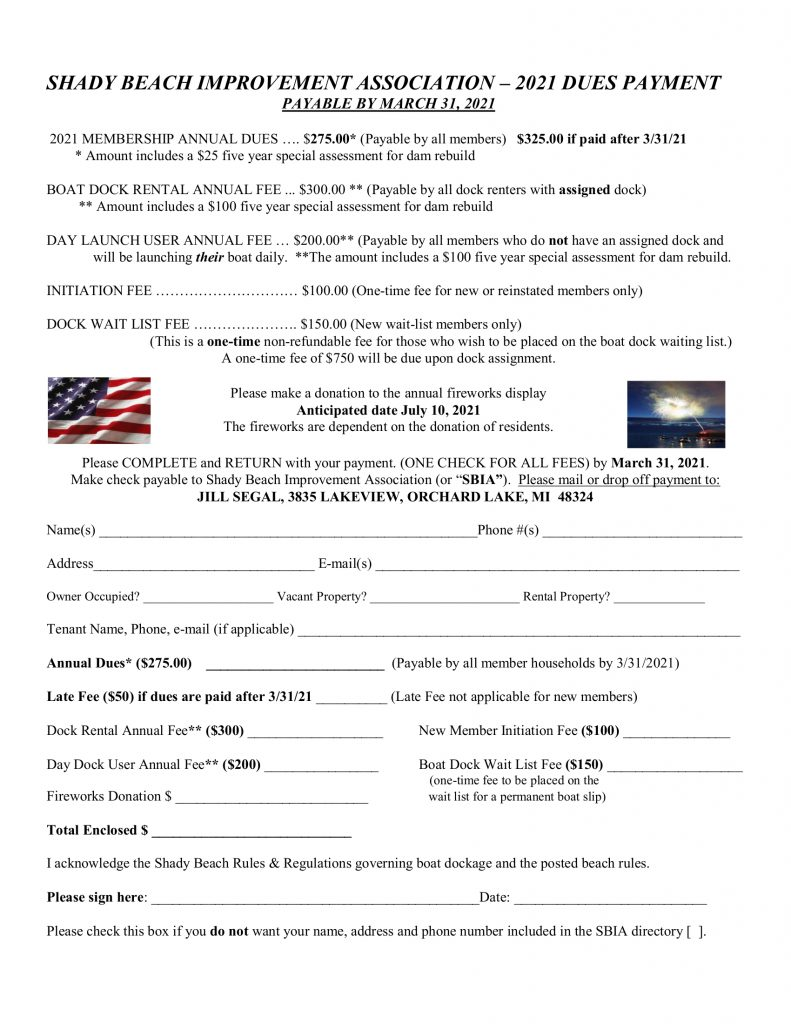 SBIA - 2021 Dues Notice
